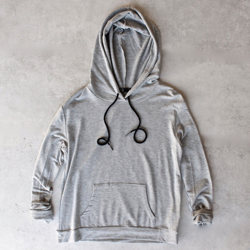 Michelle by Comune - 'cove' french terry hoodie - heather grey - shophearts - 1