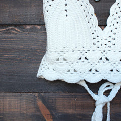 bohemian crochet crop top - shophearts - 4