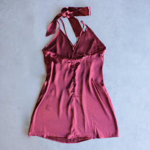reverse - choker slip dress - maroon - shophearts - 3