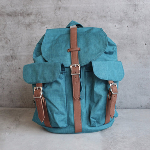 herschel supply co. - womens dawson backpack - petrol crosshatch - shophearts - 1