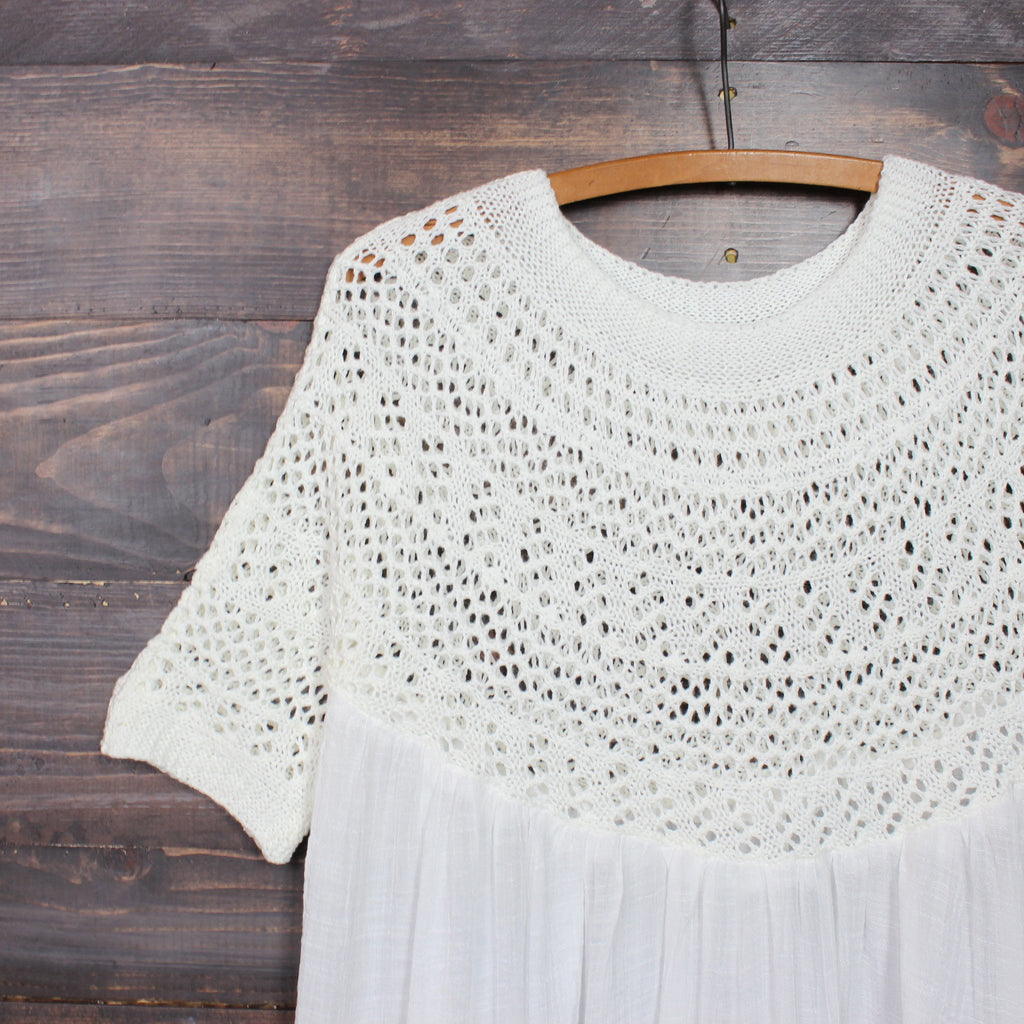 desert wanderer knit tunic in ivory - shophearts - 2
