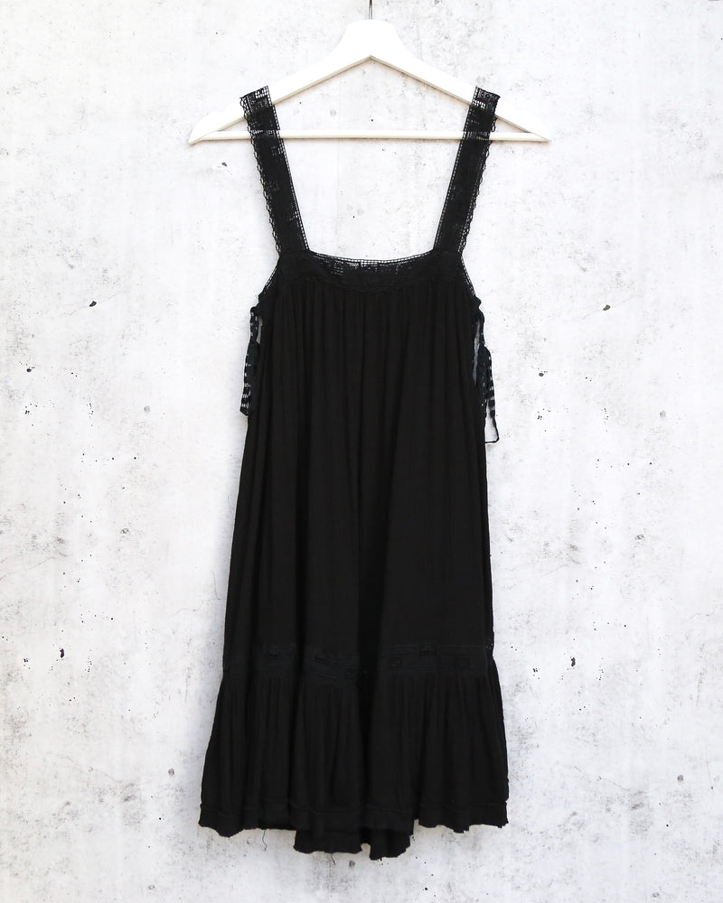Free People Sweet Thing Tunic In Black