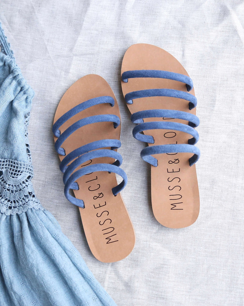 Musse & Cloud - Jazzy Slip On Sandals in Blue