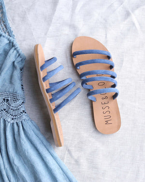 musse & cloud - jazzy slip on sandals - blue