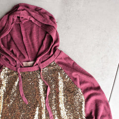 all dolled up sequin hoodie - shophearts - 2