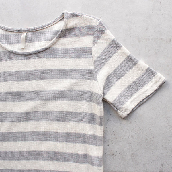 striped french terry tee shirt dress - shophearts - 5
