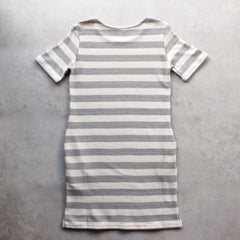 striped french terry tee shirt dress - shophearts - 7