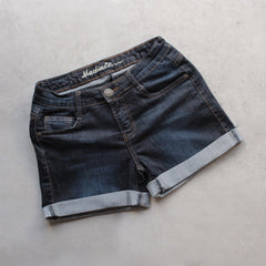 rolled up denim shorts - shophearts - 1