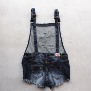 distressed denim overall short - shophearts - 4