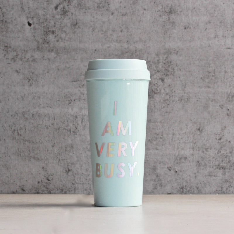 ban.do - hot stuff thermal mug - i am very busy - ice blue - shophearts - 1