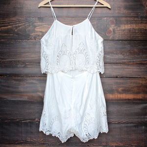 The Jetset Diaries - without suspense romper in white - shophearts - 2