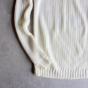 Cold shoulder knit sweater - ivory - shophearts - 3