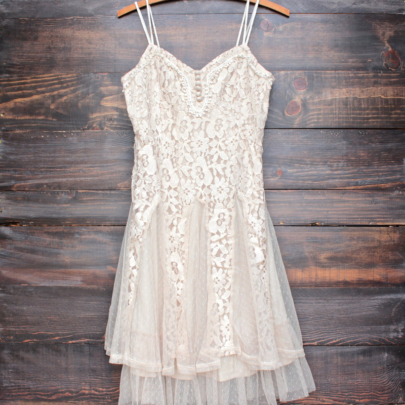 x shophearts - Ryu time will tell lace dress in beige - shophearts - 1