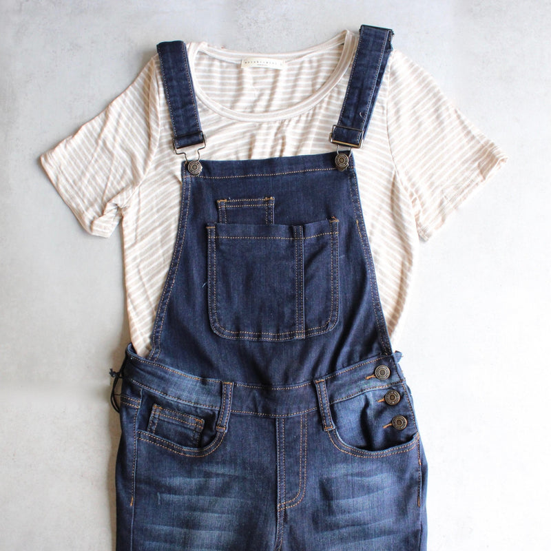 dark denim overalls - shophearts - 1
