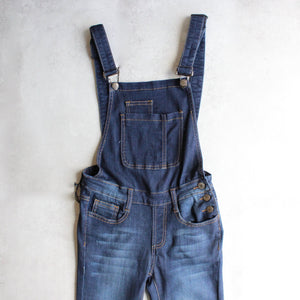 dark denim overalls - shophearts - 2