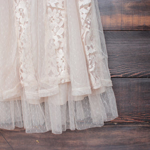 x shophearts - Ryu time will tell lace dress in beige - shophearts - 4