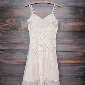 x shophearts - Ryu time will tell lace dress in beige - shophearts - 2