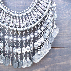 antalya turkish coin grand necklace - silver - shophearts - 2