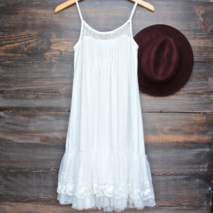 Ryu whimsical fairytale lace dress slip - white - shophearts - 1