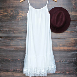 Ryu whimsical fairytale lace dress slip - white - shophearts - 2