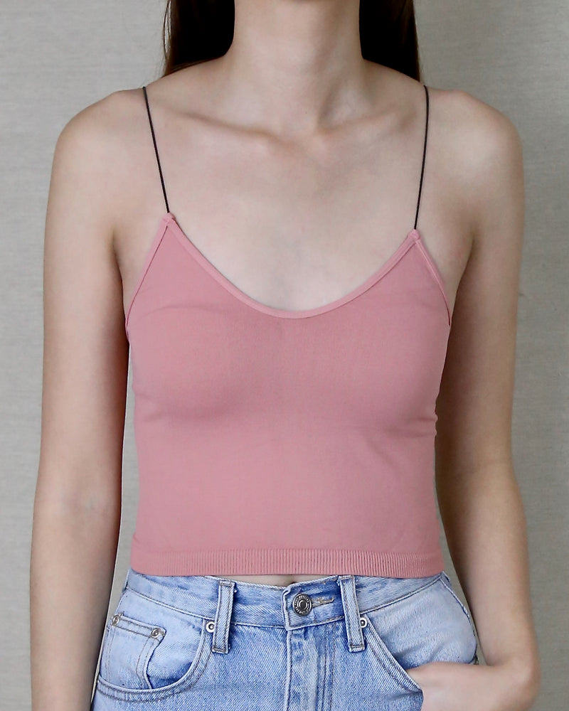 Sidney Skinny Strap Cropped Cami in More Colors