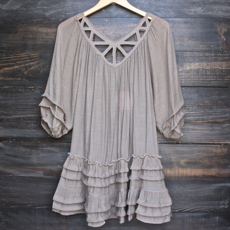 summertime sadness festival dress - taupe - shophearts