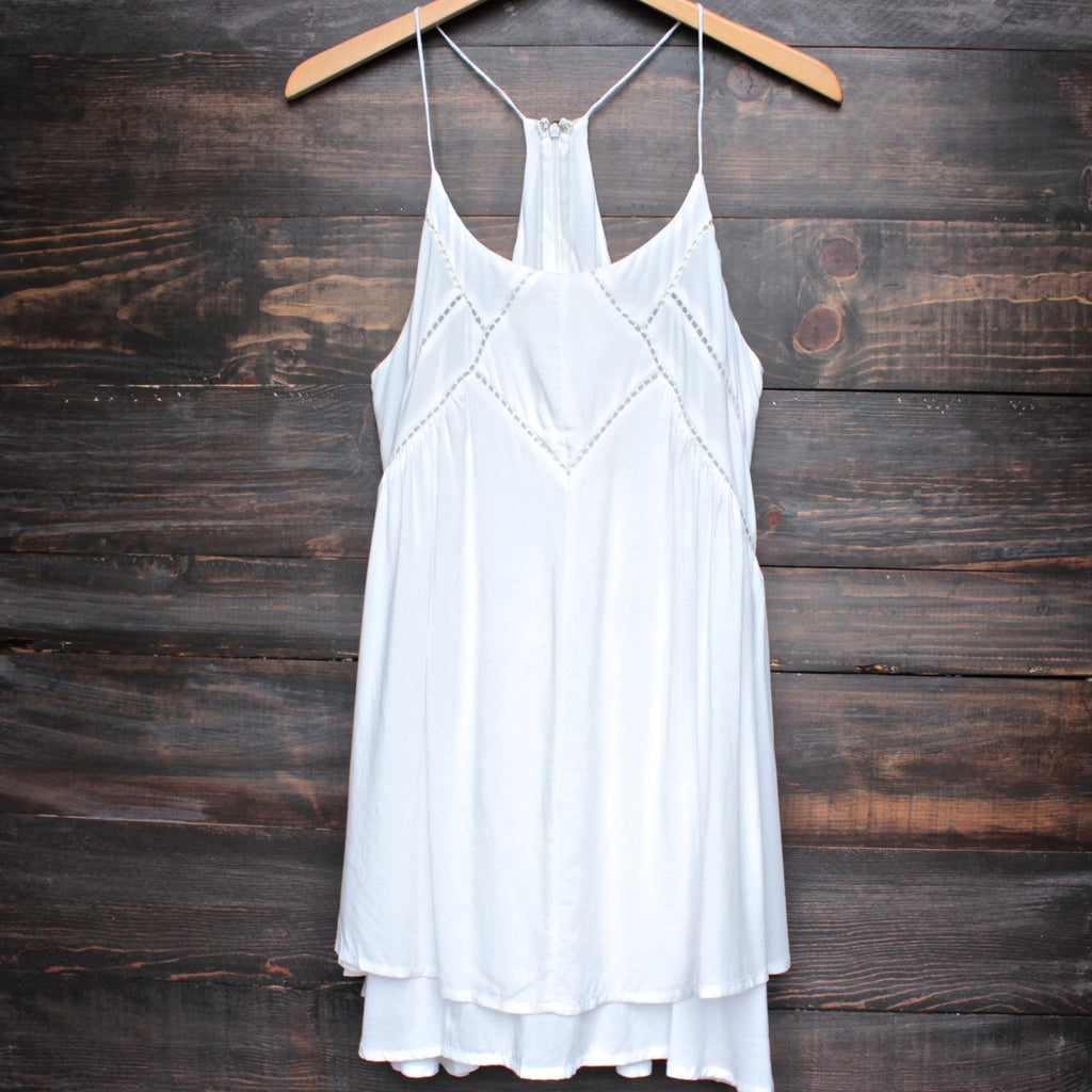 bohemian day dress - ivory - shophearts - 1