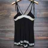 newport beach romper - black - shophearts - 2