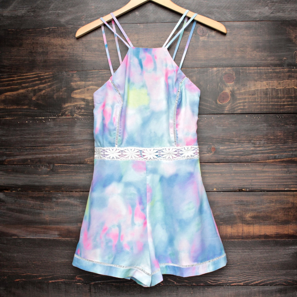 tie dye the watercolor romper - shophearts - 1
