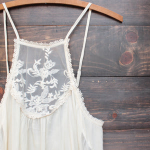 los cabos lace tank in natural - shophearts - 3