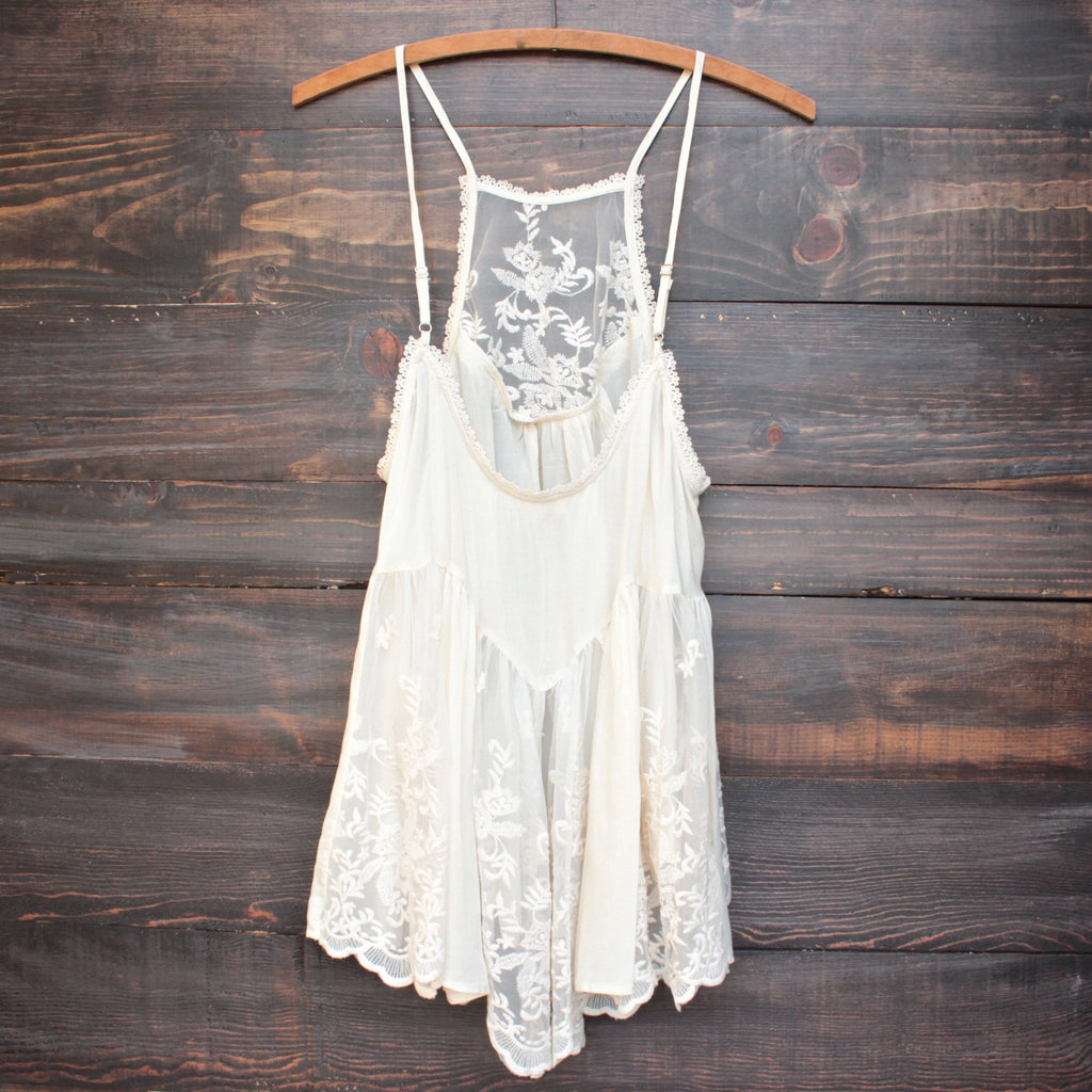 los cabos lace tank in natural - shophearts - 2