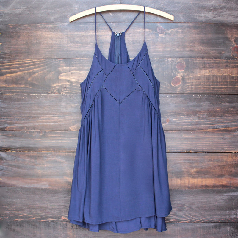 bohemian day dress - navy - shophearts - 1