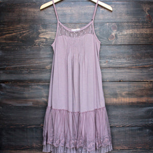 Ryu whimsical fairytale lace dress slip - mauve - shophearts - 1