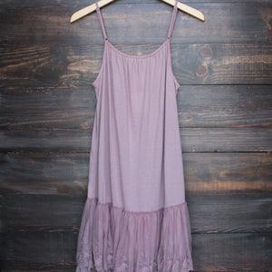 Ryu whimsical fairytale lace dress slip - mauve - shophearts - 2