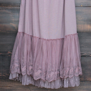 Ryu whimsical fairytale lace dress slip - mauve - shophearts - 4