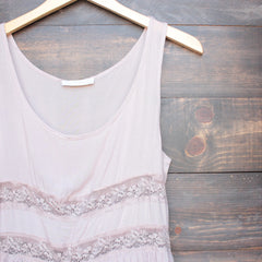 dip dye boho lace trim trapeze slip dress in mocha and navy - shophearts - 3