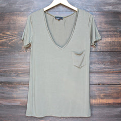 tease me oversize soft v neck tshirt (more colors) - shophearts - 2