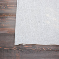 tease me oversize soft v neck tshirt in grey - shophearts - 4