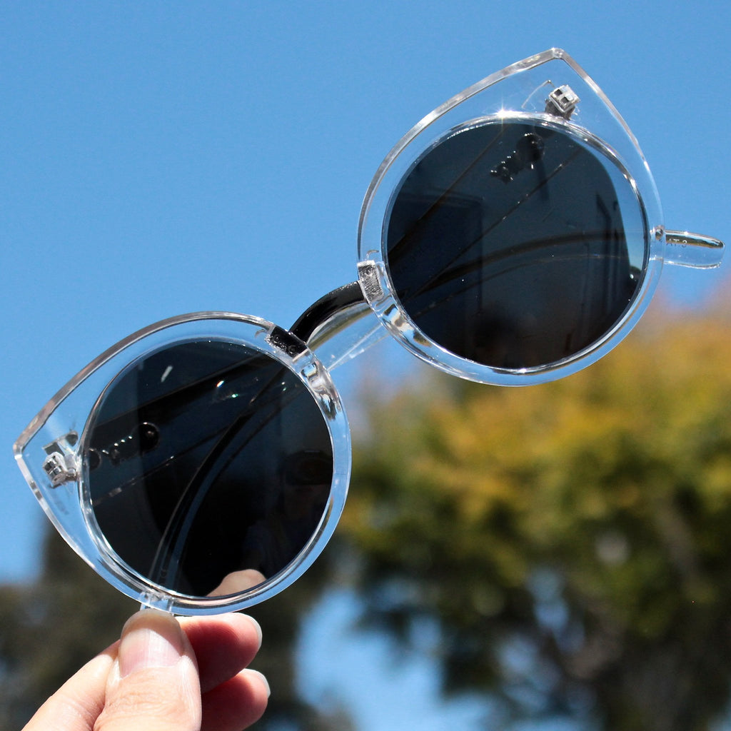 FINAL SALE - Quay China Doll sunglasses - clear - shophearts - 2