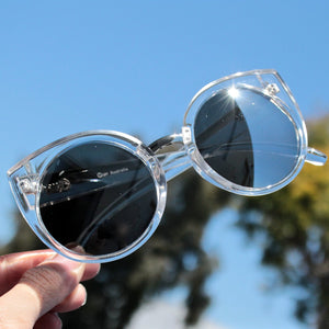 FINAL SALE - Quay China Doll sunglasses - clear - shophearts - 3