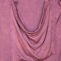 oversize distressed tee - vintage burgundy acid wash - shophearts - 5