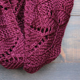knit leaf pattern infinity scarf (more colors) - shophearts - 7