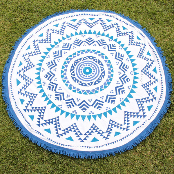 Beach Blanket Australia: Belaza Round Beach Towel By Oh Lay