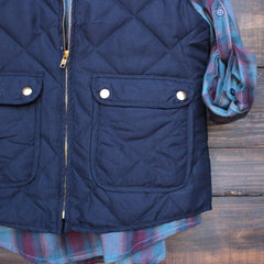 city strut quilted puffer vest - navy - shophearts - 3