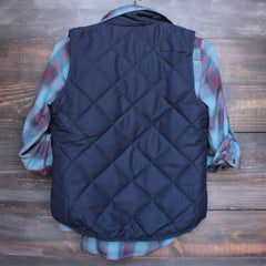 city strut quilted puffer vest - navy - shophearts - 5