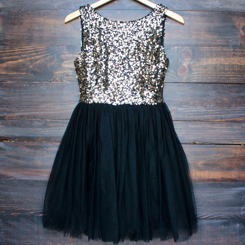 sugar plum dazzling sequin with tulle darling party dress (more colors) - shophearts - 1