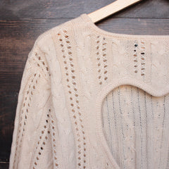 heart cut out sweater in beige by reverse - shophearts - 4