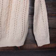 heart cut out sweater in beige by reverse - shophearts - 5