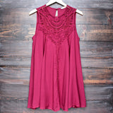 burgundy boho crochet lace dress - shophearts - 1
