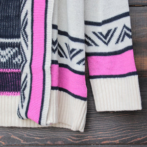 mod lightweight tribal cardigan in aztec pink - shophearts - 6